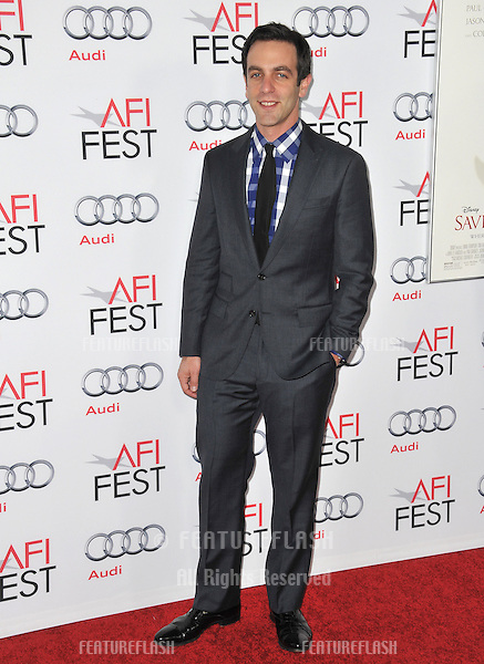 B.J. Novak at the premiere of his movie &quot;Saving Mr Banks&quot;, the opening movie of the AFI FEST 2013, at the TCL Chinese Theatre, Hollywood.<br /> November 7, 2013  Los Angeles, CA<br /> Picture: Paul Smith / Featureflash