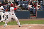 Tuesday, July 14, 2009.  Vancouver Canadians Gabriel Ortiz sacrifice fly with one out and Rasun Dixon on 3rd scores the winning run in the game against The Boise Hawks, the final score was 3-2 for the Canadians.  Photo by Gus Curtis.