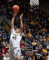 Justine Hartman of California shoots the ball during the game against Stanford at Haas Pavilion in Berkeley, California on February 2nd 2014.   Stanford defeated California, 79-64.