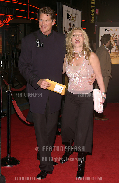 Feb 14, 2005; Los Angeles, CA: Actor DAVID HASSELHOFF & wife PAMELA at the world premiere of Be Cool, at the Grauman's Chinese Theatre, Hollywood.