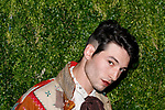 Ezra Miller attends the Fifteenth Annual CFDA/Vogue Fashion Fund Awards at the Brooklyn Navy Yard building 28, at 63 Flushing Avenue, on November 5, 2018.