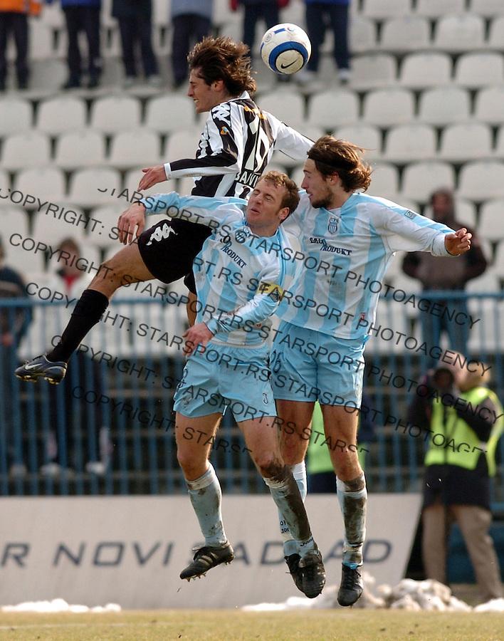 SPORT FUDBAL FOOTBALL SOCCER OFK BEOGRAD PARTIZAN BELGRADE SERBIA  Stefan Babovic 25.2.2006. foto: Pedja Milosavljevic<br />