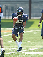 Kevin Royal during open spring practice for the Virginia Cavaliers football team August 7, 2009 at the University of Virginia in Charlottesville, VA. Photo/Andrew Shurtleff