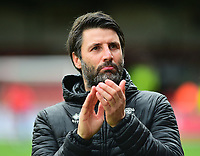 Lincoln City manager Danny Cowley during the pre-match warm-up<br /> <br /> Photographer Andrew Vaughan/CameraSport<br /> <br /> The EFL Sky Bet League Two - Swindon Town v Lincoln City - Saturday 12th January 2019 - County Ground - Swindon<br /> <br /> World Copyright &copy; 2019 CameraSport. All rights reserved. 43 Linden Ave. Countesthorpe. Leicester. England. LE8 5PG - Tel: +44 (0) 116 277 4147 - admin@camerasport.com - www.camerasport.com