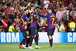 UEFA Champions League 2018/2019 - Matchday 1.<br /> FC Barcelona vs PSV Eindhoven: 4-0.<br /> Lionel Messi, Ivan Rakitic, Luis Suarez, Ousmane Dembele &amp; Philippe Coutinho.