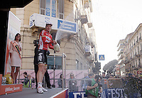 3rd place & champaign for Jurgen Roelandts (BEL/Lotto-Soudal) on the podium<br /> <br /> 107th Milano-Sanremo 2016