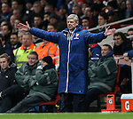 Arsenal's Arsene Wenger in action<br /> <br /> Barclays Premier League- Arsenal vs Leicester City  - Emirates Stadium - England - 10th February 2015 - Picture David Klein/Sportimage