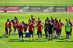 Getafe's coach Jose Bordalas with his players during training session. September 12,2017.(ALTERPHOTOS/Acero)