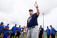 19 September 2012: France Jim Stoeckel talks to his players prior to Team France friendly game won 6-3 against Palm Beach State College, during the 2012 World Baseball Classic Qualifier round, in Lake Worth, Florida, USA.