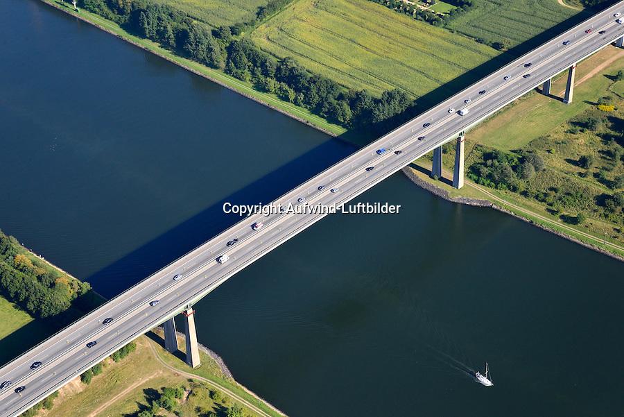 Rader Hochbruecke ueber den Nordostsee Kanal: EUROPA, DEUTSCHLAND, SCHLESWIG- HOLSTEIN,  (GERMANY), 06.09.2013: Rader Hochbruecke ueber den Nordostsee Kanal