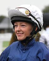 Jockey Isobel Francis during Horse Racing at Salisbury Racecourse on 14th August 2019