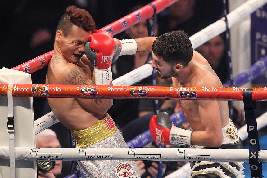 Ardin Diale vs Andrew Selby during a Boxing Show at Olympia on 4th February 2017