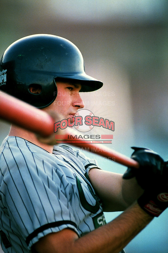Todd Helton of the Colorado Springs Sky Sox during a game at Cashman Field in Las Vegas, Nevada during the 1997 season.(Larry Goren/Four Seam Images)