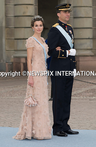 "CROWN PRINCE FELIPE AND CROWN PRINCESS LETIZIA OF SPAIN.PRINCESS VICTORIA AND DANIEL WESTLING WEDDING.Royal Guests at the wedding  Stockholm_19/062010.Mandatory Credit Photo: ©DIAS-NEWSPIX INTERNATIONAL..**ALL FEES PAYABLE TO: ""NEWSPIX INTERNATIONAL""**..IMMEDIATE CONFIRMATION OF USAGE REQUIRED:.Newspix International, 31 Chinnery Hill, Bishop's Stortford, ENGLAND CM23 3PS.Tel:+441279 324672  ; Fax: +441279656877.Mobile:  07775681153.e-mail: info@newspixinternational.co.uk"