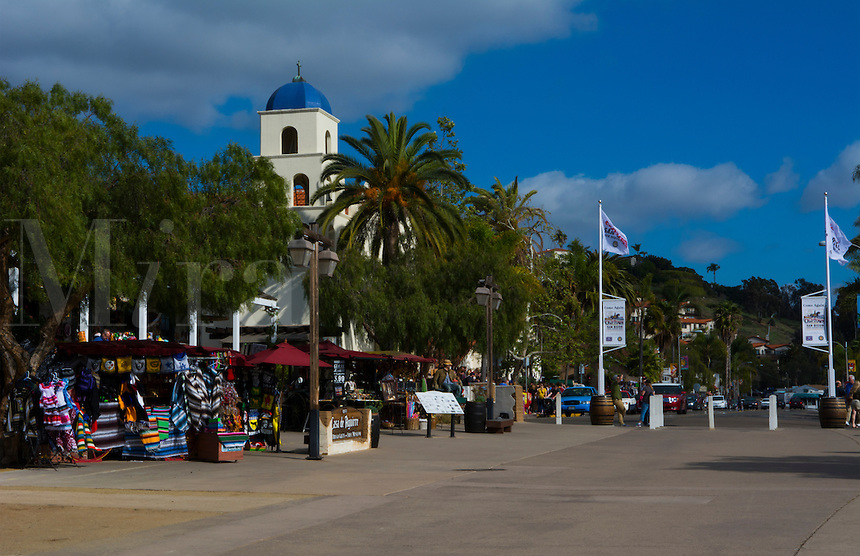 Old San Diego California for tourists area colorful restaurants and shops for walkers San Diego CA