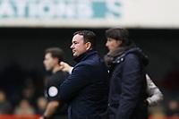 Morecambe manager Derek Adams during Crawley Town vs Morecambe, Sky Bet EFL League 2 Football at Broadfield Stadium on 16th November 2019