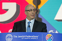 In remarks at the General Assembly of the Jewish Federations of North America at the Washington Hilton in Washington, D.C. on Tuesday, November 15, 2016, Chemi Peres, son of the late Israeli president, Simon Peres, recalled lessons from his father's life who would have called on the Jewish community to work for peace. He also recalled when President John Kennedy was elected he was asked Israel's first prime minster, David Ben-Gurion what the best thing he could do to be a good president for Israel. Ben-Gurion immediately replied, &quot;be a great president of the United States.&quot;<br /> Credit: Ron Sachs / CNP /MediaPunch
