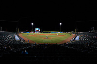 General view of a New Orleans Baby Cakes Pacific Coast League game against the Oklahoma City Dodgers on May 6, 2019 at Shrine on Airline in New Orleans, Louisiana.  New Orleans defeated Oklahoma City 4-0.  (Mike Janes/Four Seam Images)