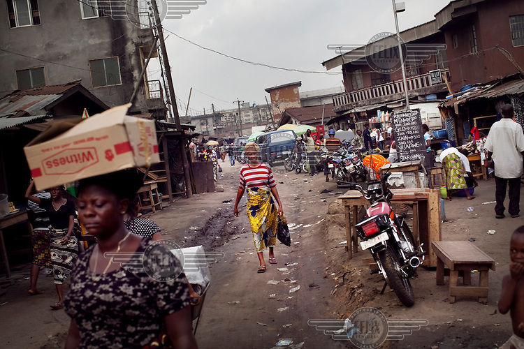 Street scene in the Makoko neighbourhood.