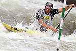08.08.2015 La Seu d'Urgel, Lleida.ICF Canoe Slalom World Cup 4.  Picture show Alexander Slafkovsky (SVK) in action during canoe single (C1) men final at Canal Olimpic