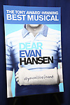 Theatre Poster at the National Tour Photo Call for 'Dear Evan Hansen' on September 6, 2018 at the New 42nd Street Studios in New York City.