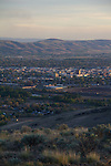 Yakima, scenic, overview, Yakima Valley, Mount Adams, Eastern Washington, Yakima County, Washington State, Pacific Northwest, United States, skyline, aerial,