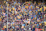 FC Barcelona's supporters during Spanish Kings Cup Final match. May 22,2016. (ALTERPHOTOS/Acero)