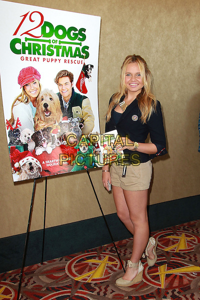 Alli Simpson.12 Dogs of Christmas: Great Puppy Rescue Sneak Preview, Los Angeles, California, USA, .4th October 2012..full length jacket  beige shorts shoes wedges .CAP/ADM/PH.©Paul A. Hebert/AdMedia/Capital Pictures.