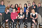 50TH BIRTHDAY: Eithne McLoughan of Coiscoille celebrating her 50TH with family and friends at the Greyhound bar last Friday night seated l:r Gary Commane, Aileen, Eithne McLoughan, Megan Smith and Mandy Wilson. Back l:r Colm McLoughan, Amine Cream, Noel O'Connor, Ruth Riorean, Denise Drumm, Mary McLoughan, Tim Commane, Denise Lacey, Joachim O'Mahoney and Adian Commane.   Copyright Kerry's Eye 2008