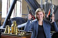 SCHAATSEN: LEMMER: Het Woudagemaal, 14-10-2015, Schaatser/Inliner Tjitske Wassenaar, ©foto Martin de Jong