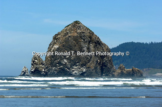 "Haystack Rock Cannon Beach Oregon, Haystack Rock, Cannon Beach, Oregon, Clatsop County, Portland, Tolovana Beach State Recreation Site,  Pacific Ocean, Fine art Photography and Stock Photography by Ronald T. Bennett Photography ©, FINE ART and STOCK PHOTOGRAPHY FOR SALE, CLICK ON  ""ADD TO CART"" FOR PRICING,"