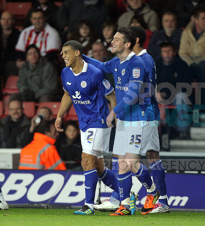 David Nugent of Leicester City celebrates scoring the first goal.Npower Championship Premier League.Southampton v Leicester City at St Mary's Stadium, Southampton 23rd January, 2012..Sportimage +44 7980659747.picturedesk@sportimage.co.uk.http://www.sportimage.co.uk/.Editorial use only. Maximum 45 images during a match. No video emulation or promotion as 'live'. No use in games, competitions, merchandise, betting or single club/player services. No use with unofficial audio, video, data, fixtures or club/league logos.