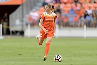 Houston, TX - Saturday June 17, 2017: Janine Beckie looks to pass the ball during a regular season National Women's Soccer League (NWSL) match between the Houston Dash and the Orlando Pride at BBVA Compass Stadium.
