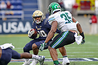 Annapolis, MD - October 26, 2019: Navy Midshipmen wide receiver CJ Williams (20) runs the ball during the game between Tulane and Navy at  Navy-Marine Corps Memorial Stadium in Annapolis, MD.   (Photo by Elliott Brown/Media Images International)