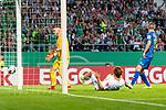 10.08.2019, wohninvest WESERSTADION, Bremen, GER, DFB-Pokal, 1. Runde, SV Atlas Delmenhorst vs SV Werder Bremen<br /> <br /> im Bild<br /> Tor 0:1, Yuya Osako (Werder Bremen #08) zum 0:1, Florian Urbainski (SV Atlas Delmenhorst #01), <br /> <br /> während DFB-Pokal Spiel zwischen SV Atlas Delmenhorst und SV Werder Bremen im wohninvest WESERSTADION, <br /> <br /> Foto © nordphoto / Ewert