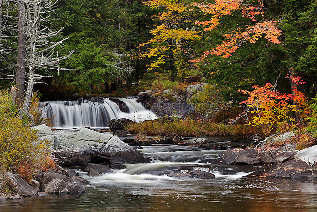 A pretty little waterfall along the Wells River in Groton, Vermont.