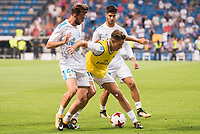 Real Madrid's Borja Mayoral, Marcos Llorente and Marco Asensio during XXXVIII Santiago Bernabeu Trophy at Santiago Bernabeu Stadium in Madrid, Spain August 23, 2017. (ALTERPHOTOS/Borja B.Hojas) /NortePhoto.com