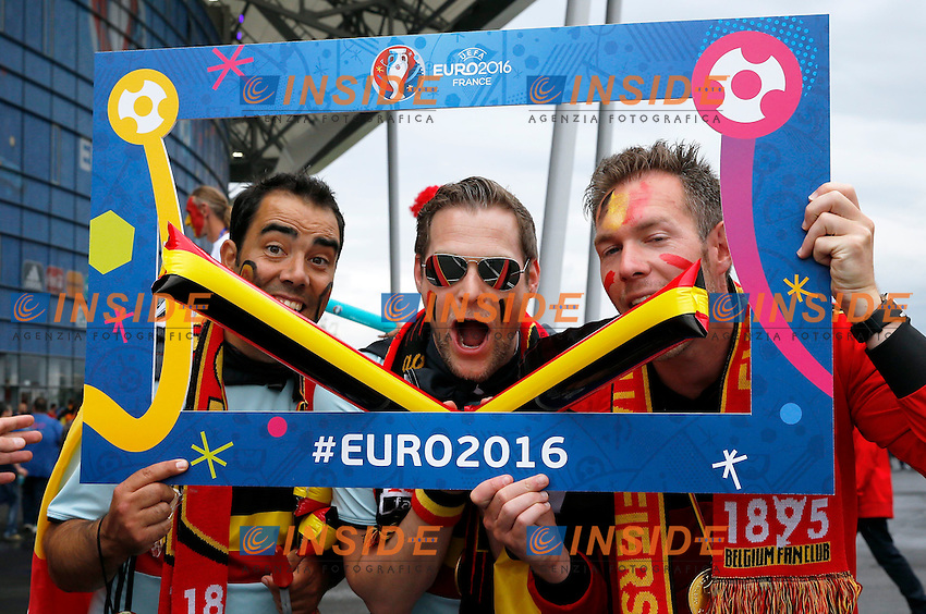 Tifosi Belgio Supporters Belgium <br /> Lyon 13-06-2016 Grand Stade de Lyon Football Euro2016 Belgium-Italy / Belgio-Italia Group Stage Group E. Foto Jimmy Bolcina / Panoramic / Insidefoto