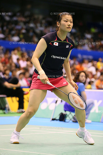 Reika Kakiiwa (JPN), June 13, 2014 - Badminton : Yonex Open Japan 2014 Women's Doubles at Tokyo Metropolitan Gymnasium, Tokyo, Japan. (Photo by Yohei Osada/AFLO SPORT) [1156]
