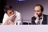 Roma, 14 Dicembre 2014<br /> Assemblea nazionale del Partito Democratico.<br /> Matteo Renzi e Matteo Orfini