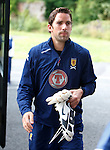 Neil Alexander arrives at Dumbarton for Scotland training