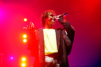 LONDON, ENGLAND - FEBRUARY 9: Rob Damiani of 'Don Broco' performing at SSE Arena on February 9, 2019 in London, England.<br /> CAP/MAR<br /> &copy;MAR/Capital Pictures