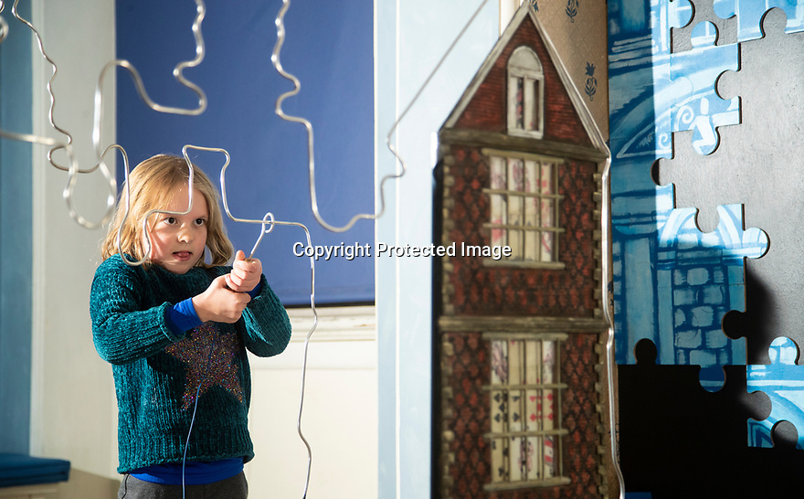 21/11/19<br /> <br /> Polly Bamforth (5) plays Buzzwire in the Porch room, <br /> <br /> Game On: A supersized snakes and ladder and other board games feature at the National Trust's Sudbury Hall, Derbyshire, where rooms have been converted into board games for Christmas. Visitors themselves are the playing pieces on the snakes and ladders board while other traditional board games featured include Scrabble, Guess Who and Cluedo.<br /> <br /> Full story:  https://rkp-press-releases.netlify.com/press-releases/2019-11-20-sudbury-hall-christmas-game-on-national-trust/<br /> <br /> <br /> All Rights Reserved: F Stop Press Ltd.  <br /> +44 (0)7765 242650 www.fstoppress.com