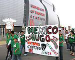 7 February 2007: Mexico fans show their support as they walk into the University of Phoenix Stadium, pregame. The United States National Team defeated Mexico 2-0 at University of Phoenix Stadium in Glendale, Arizona in an International Friendly soccer match.