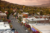 USA, Oregon, Ashland, view of downtown looking North from the 9th floor of the Ashland Springs Hotel