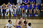 SIOUX FALLS, SD: MARCH 7: The South Dakota State University bench watches a free throw in the closing seconds of the Jackrabbits 79-77 win over Omaha in the Men's Summit League Basketball Championship Game on March 7, 2017 at the Denny Sanford Premier Center in Sioux Falls, SD. (Photo by Dick Carlson/Inertia)