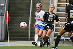 30 August 2009: Duke's Maddy Haller (18) and Central Florida's Alex Brandt (27). The Duke University Blue Devils lost 3-2 to the University of Central Florida Knights at Fetzer Field in Chapel Hill, North Carolina in an NCAA Division I Women's college soccer game.