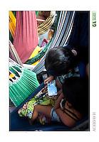 Transporte de passageiros leva centenas de pessoas que se instalam em redes durante a viagem de doze horas saindo de Vila Prograsso no Arquipélago do Bailique até a cidade de Macapá na foz do rio Amazonas, Amapá, Brasil.<br /> Foto Paulo Santos<br /> 01/03/2015