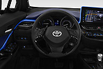 Car pictures of steering wheel view of a 2018 Toyota C-HR C-ULT 5 Door SUV