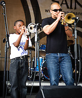 Irvin Mayfield, Sasha Masakowski, Trixie Minx, Don Vappie and others play Lafayette Square in New Orleans, LA.